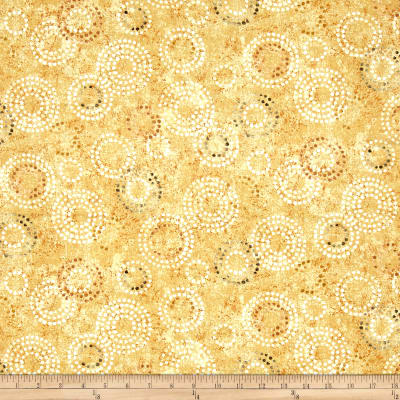 Earthtones 2 Circle Dot Metallic Gold
