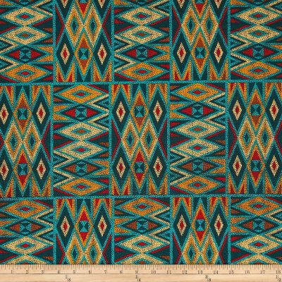 Michael Miller Desert Nights Beaded Patchwork Turquoise