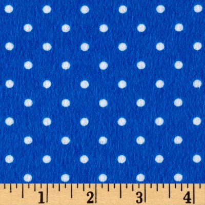 Timeless Treasures Flannel Dot Blue
