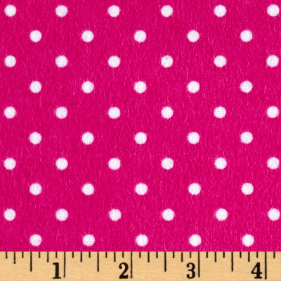 Timeless Treasures Flannel Dot Pink