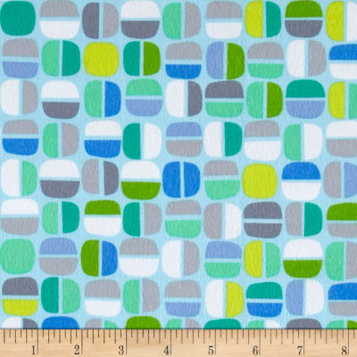 Kanvas Koala Baby Flannel Nutty Geo Light Blue/Green