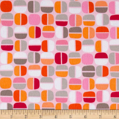Kanvas Koala Baby Flannel Nutty Geo Pink/Orange