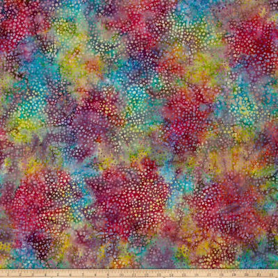 Timeless Treasures Tonga Batik Confetti Mosaic Rainbow