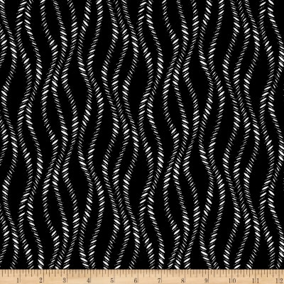 Timeless Treasures Kinfolk Wavy Stripe Black