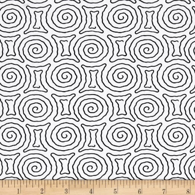 Timeless Treasures Kinfolk Spiral Maze White