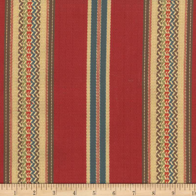 Laura & Kiran Southwest Stripes El Dorado Red Twill