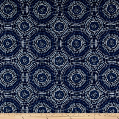 Kelly Ripa Home Spiral Graph Jacquard Bluejay