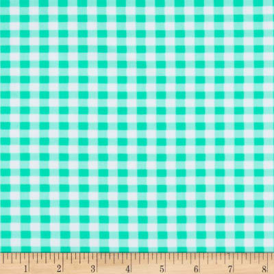 St. Maarten Swimwear Knit Gingham Green/White
