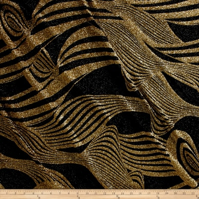 Dancewear Metallic Glitter Knit Gold/Black