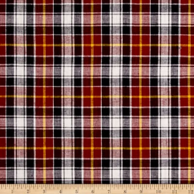 Madras Small Plaid Maroon/Navy/White