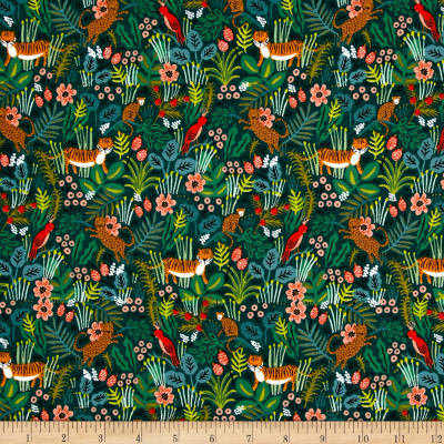 Cotton + Steel Rifle Paper Co. Menagerie Jungle Hunter ...