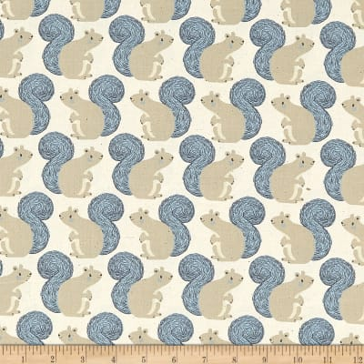 Cotton + Steel Magic Forest Squirrels Neutral
