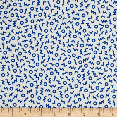 Cotton + Steel Snap To Grid Ziggy Cobalt