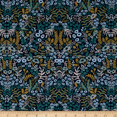 Cotton + Steel Rifle Paper Co. Menagerie Rayon Challis Tapestry Navy