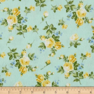 Afternoon In The Attic Flannel Heirloom Floral Daffodil
