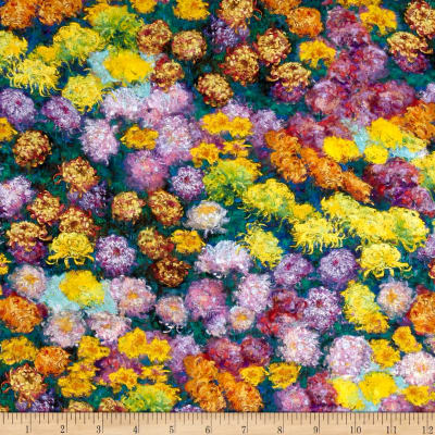 Kaufman Claude Monet Digital Prints Flowers Garden