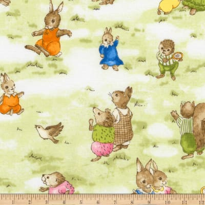 Kaufman Storybook Meadow Bunnies Vintage