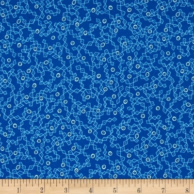 Kaufman Panache Scribble Blue