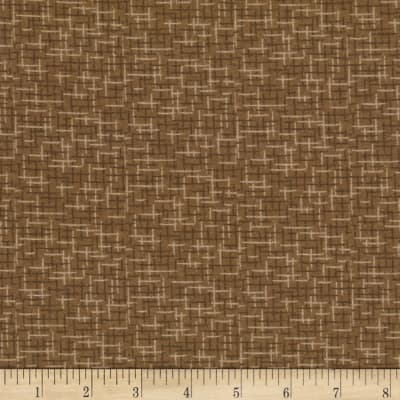 Kaufman Microlife Textures Digital Prints Plaid Brown