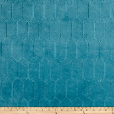 Rowen Quilted Velvet Turquoise