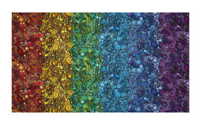 Kaufman Effervescence Digital Print Double Border Bright