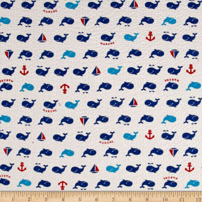 Cosmo Beach Life Surf Whales Plisse White