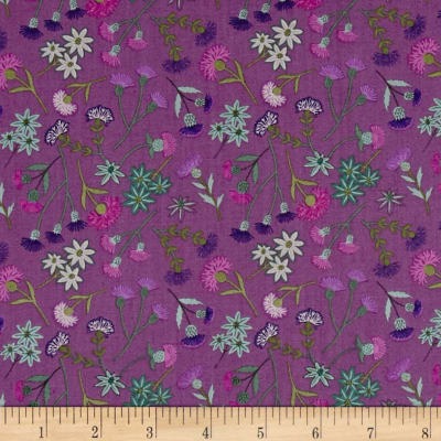 Lewis & Irene Celtic Blessings Thistle Floral Purple
