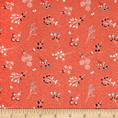 Lewis & Irene The Hedgerow Sprigs Peachy Coral