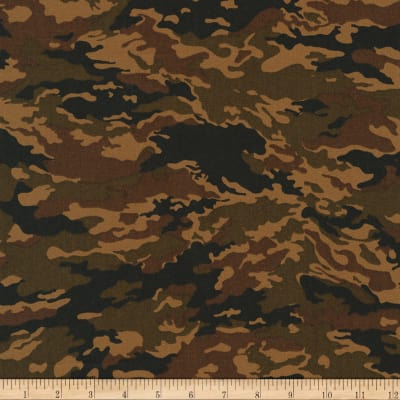 Kaufman Sevenberry Camouflage Mod Camo Brown