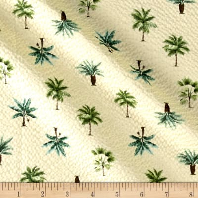 Kaufman Sevenberry Plisse Collection Palm Trees Maize