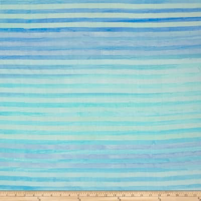 Kaufman Batiks Elementals Stripes Water