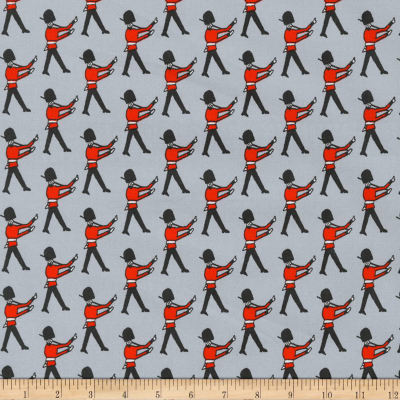 Kaufman Sevenberry Mini Prints Palace Guards Grey