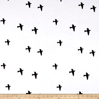 Michael Miller Minky Birds White
