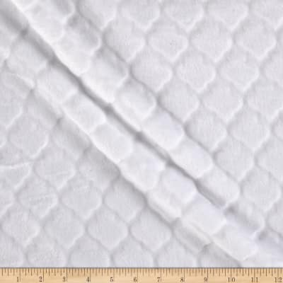 Shannon Minky Embossed Tile Spa Cuddle Snow