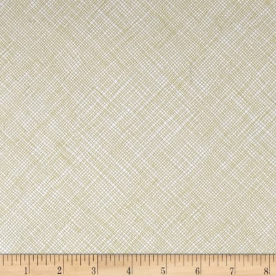 Kaufman Blake Cotton Jersey Knit Grid Limestone