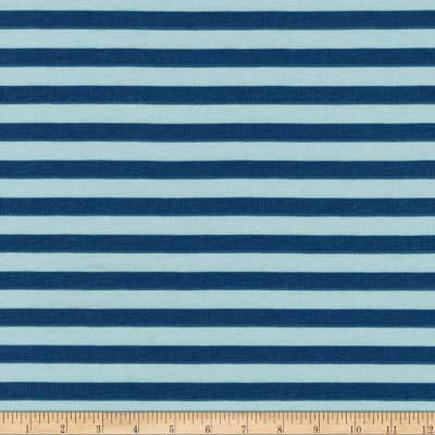 Kaufman Blake Cotton Jersey Knit Stripe Fog