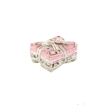 Kaufman Penned Pals Fat Quarter Bundle Pink