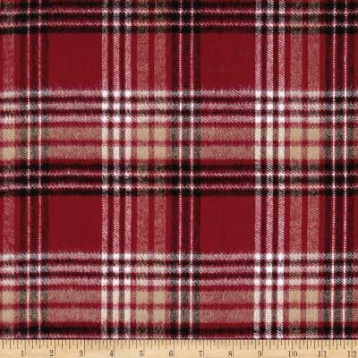 Kaufman Durango Flannel Plaid Red