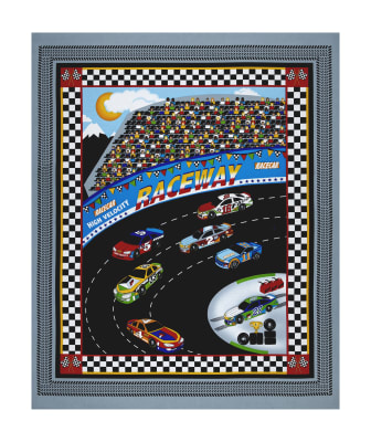 "Fast Track 36"" Race Car Panel Gray"
