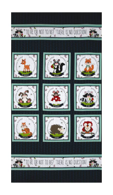 """To Be Or Not To Be 23"""" Character Blocks Panel Navy"""