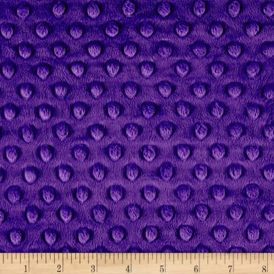Michael Miller Minky Solid Dot Purple