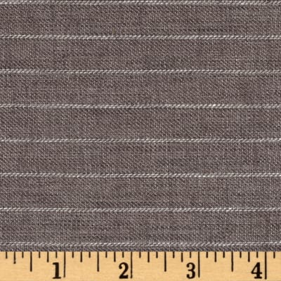 100% European Delave Linen Stripe Gray