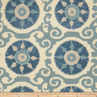 Fabricut 50027w Suzani Wallpaper Ocean 04 (Double Roll)