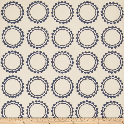 Fabricut 50030w Cercle Wallpaper Navy 04 (Double Roll)
