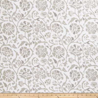 Fabricut 50035w Rosette Wallpaper Grey 05 (Double Roll)