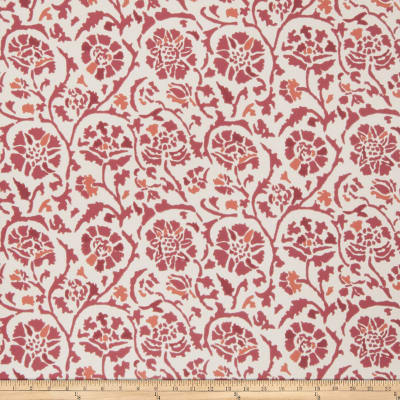 Fabricut 50035w Rosette Wallpaper Berry 02 (Double Roll)