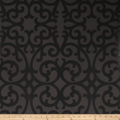 Fabricut 50066w Faribault Wallpaper Onyx 01 (Double Roll)