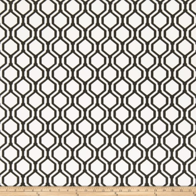 Fabricut 50078w Keys Geo Wallpaper Onyx 01 (Double Roll)