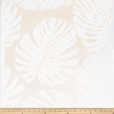 Fabricut 50090w Monstera Wallpaper Frost 01 (Double Roll)