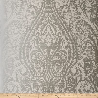 Fabricut 50172w Cachemire Wallpaper Silver 07 (Double Roll)